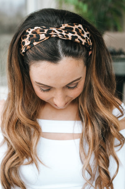 Fabric Leopard Print Headband-Glitz & Ears Boutique