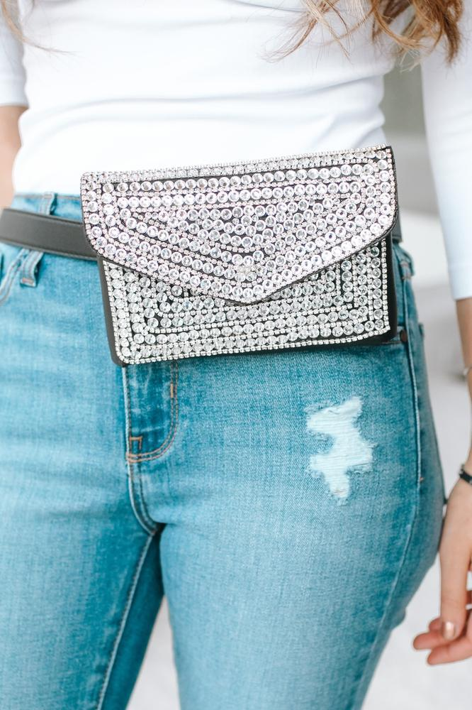 All Circle Stone Fanny Pack-Glitz & Ears Boutique