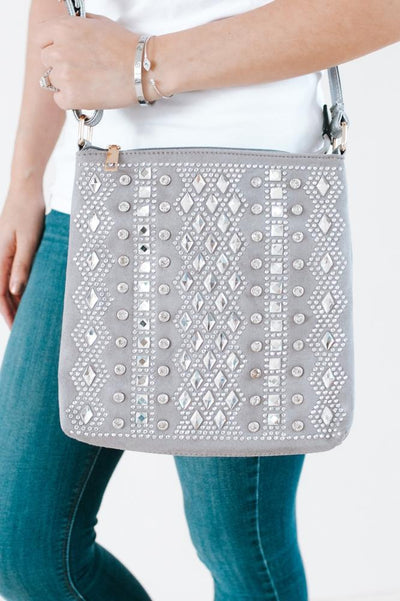Diamond Middle & Square Rows Messenger-Glitz & Ears Boutique