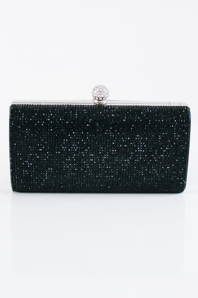 Rhinestone Front Ball Top Clutch-Glitz & Ears Boutique