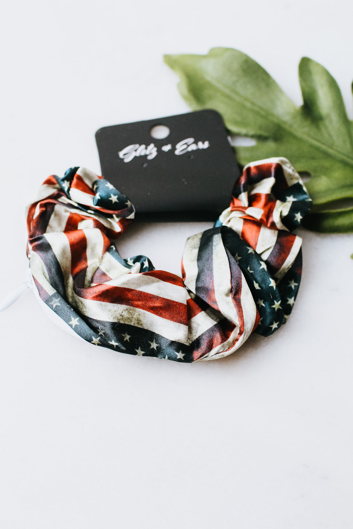 Satin Flag Scrunchie