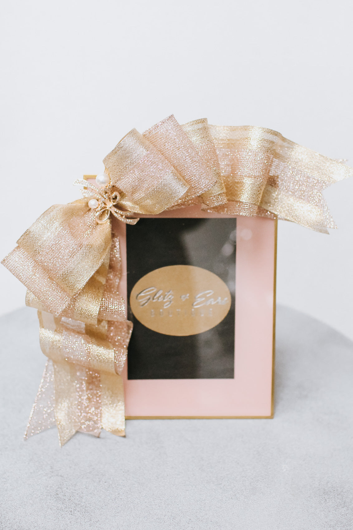 Thin Gold Trim Two Tone Ribbon Picture Frame