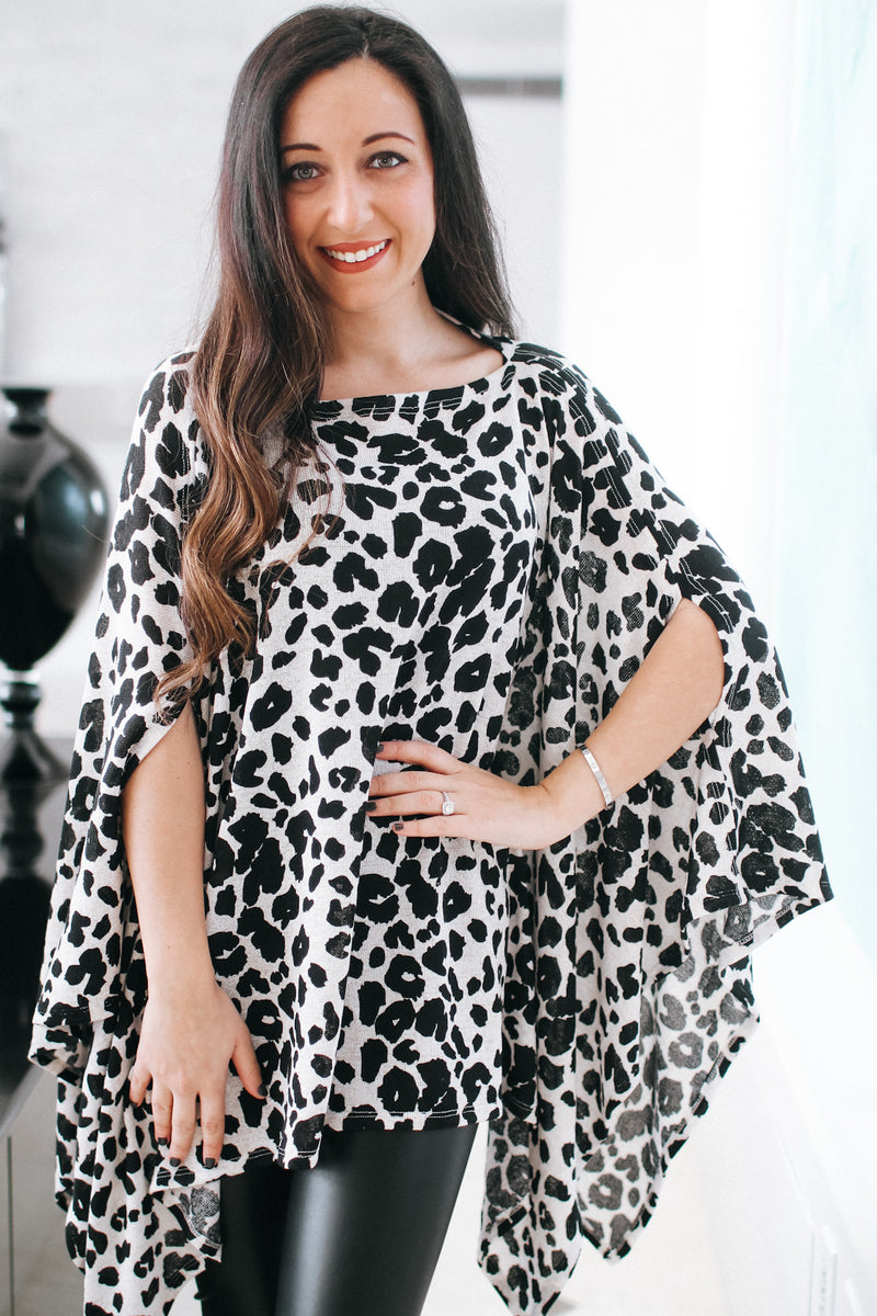 Off the Shoulder Leopard Print Top