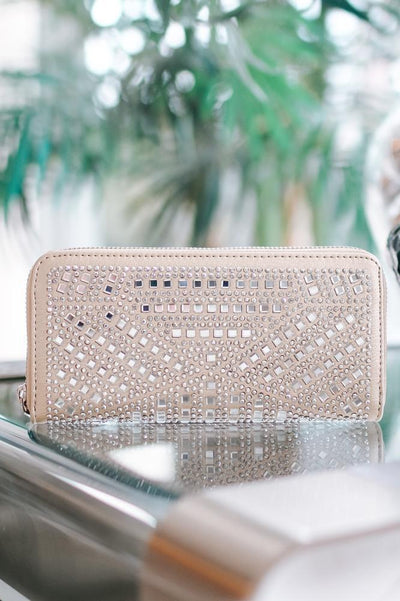 Angled Square Stone Rows Wallet-Glitz & Ears Boutique