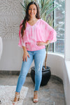 Tie Dye Smocked Bottom Blouse