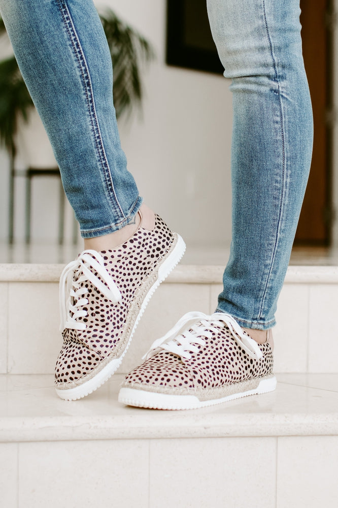 All Leopard Jute Bottom Sneaker