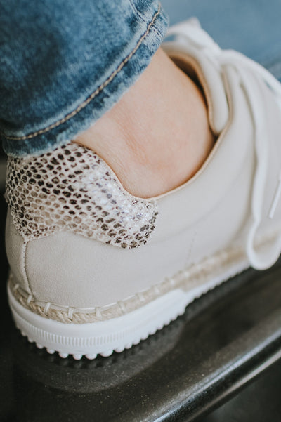 Snake Back Jute Bottom Sneaker-Glitz & Ears Boutique