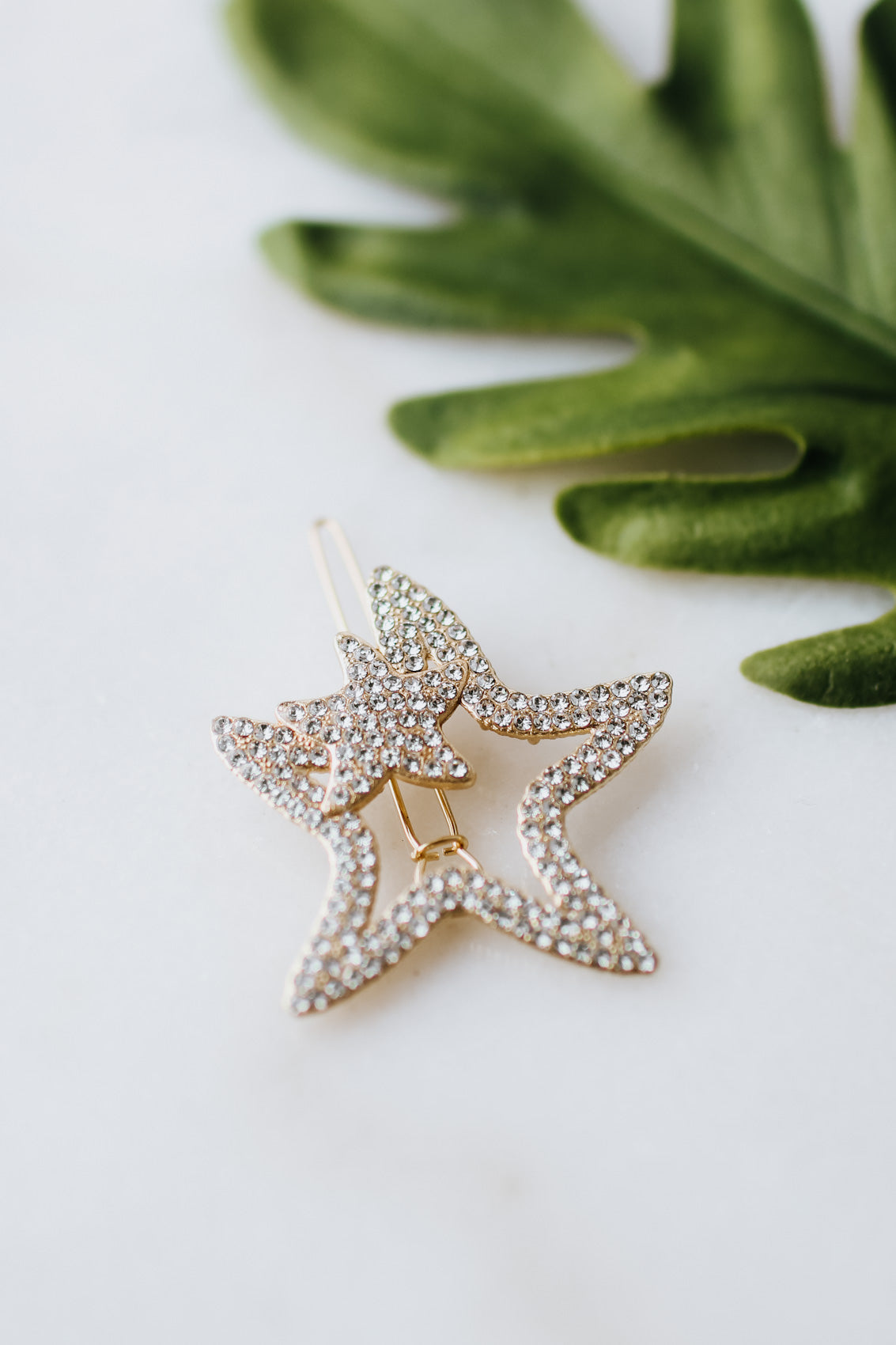 Rhinestone Star Open Bobby Pin