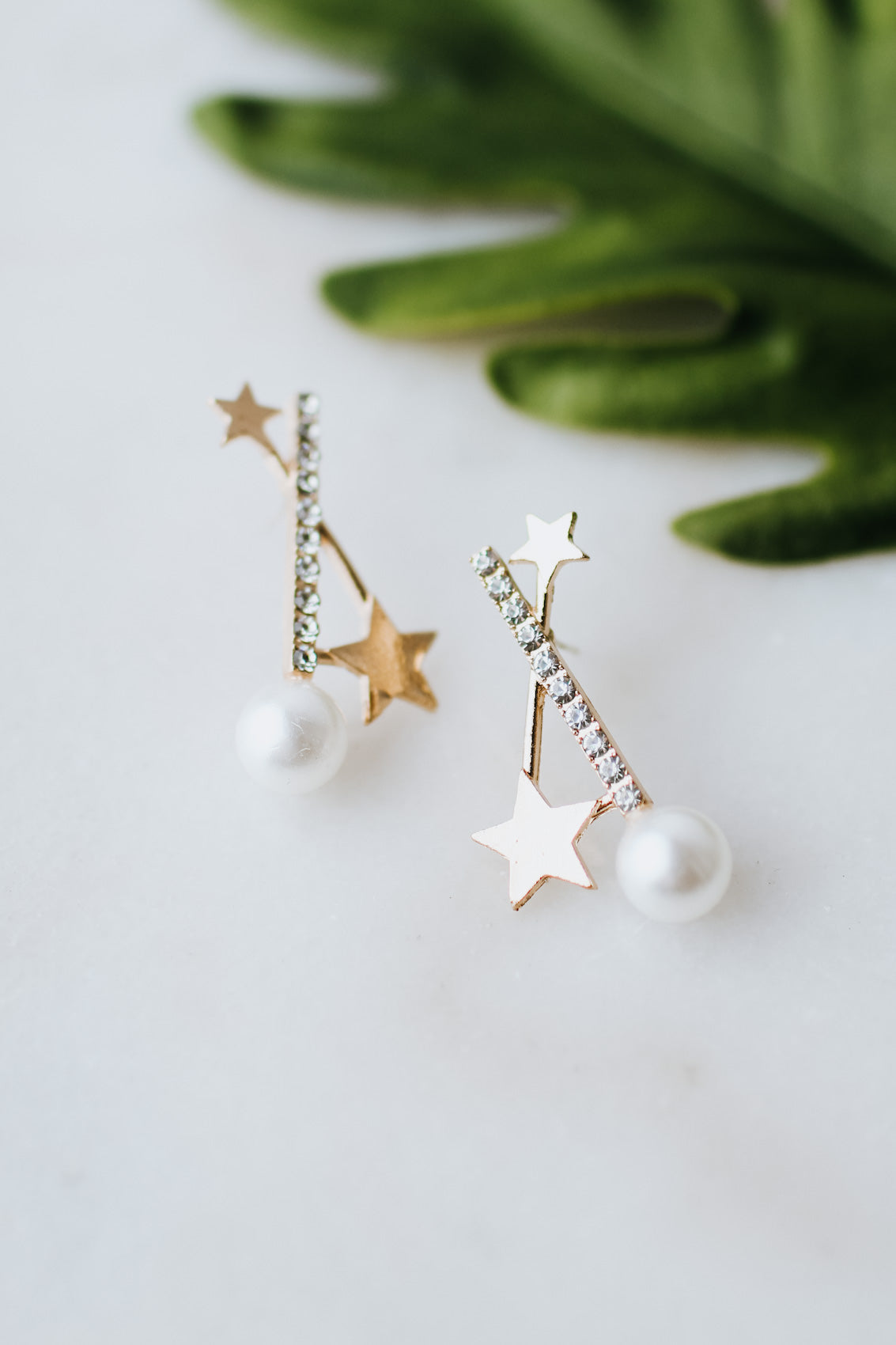 Pearl & Star Drop Earring