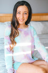 Tie Dye Lounge Long Sleeve Top