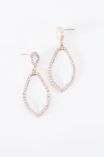 Rhinestone Trim Felt Shape Earring-Glitz & Ears Boutique
