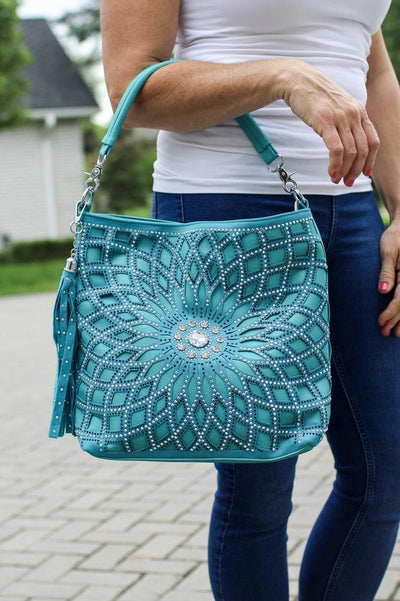 Spiral Flower with Stone Middle Purse-Glitz & Ears Boutique