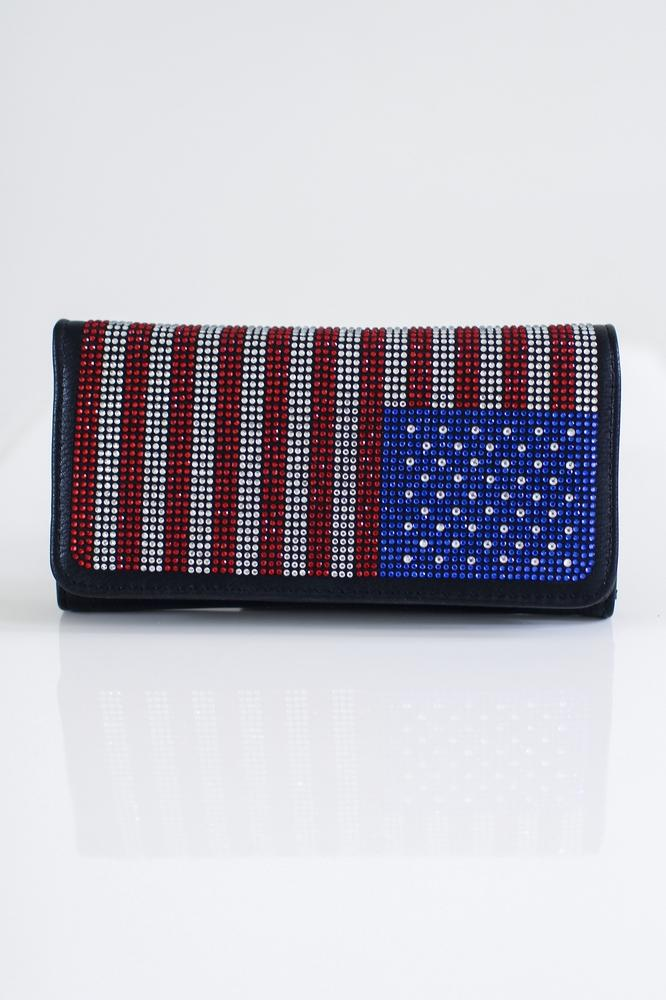 USA Flag Flap Wallet