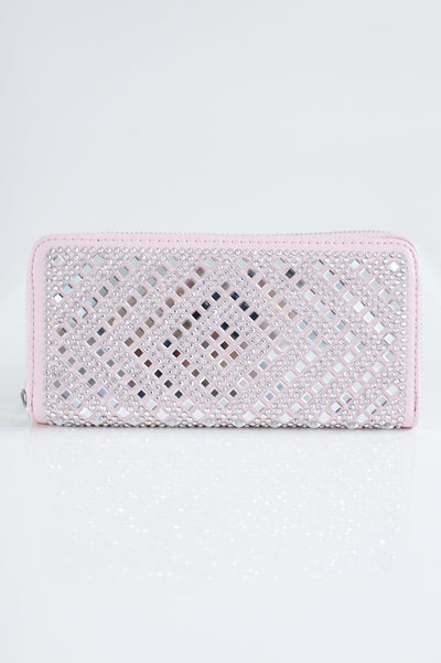 Square Stone Diamond Design Wallet-Glitz & Ears Boutique