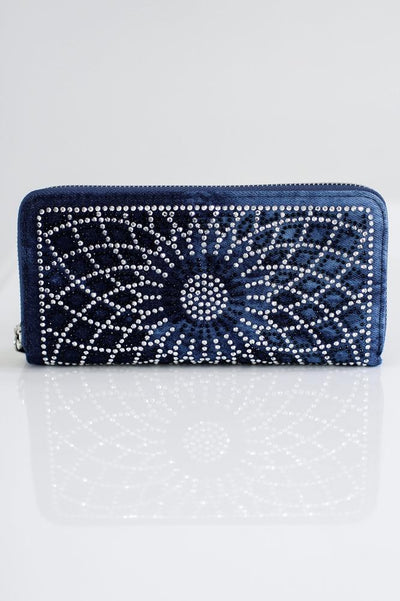 Rhinestone Flower Wallet-Glitz & Ears Boutique