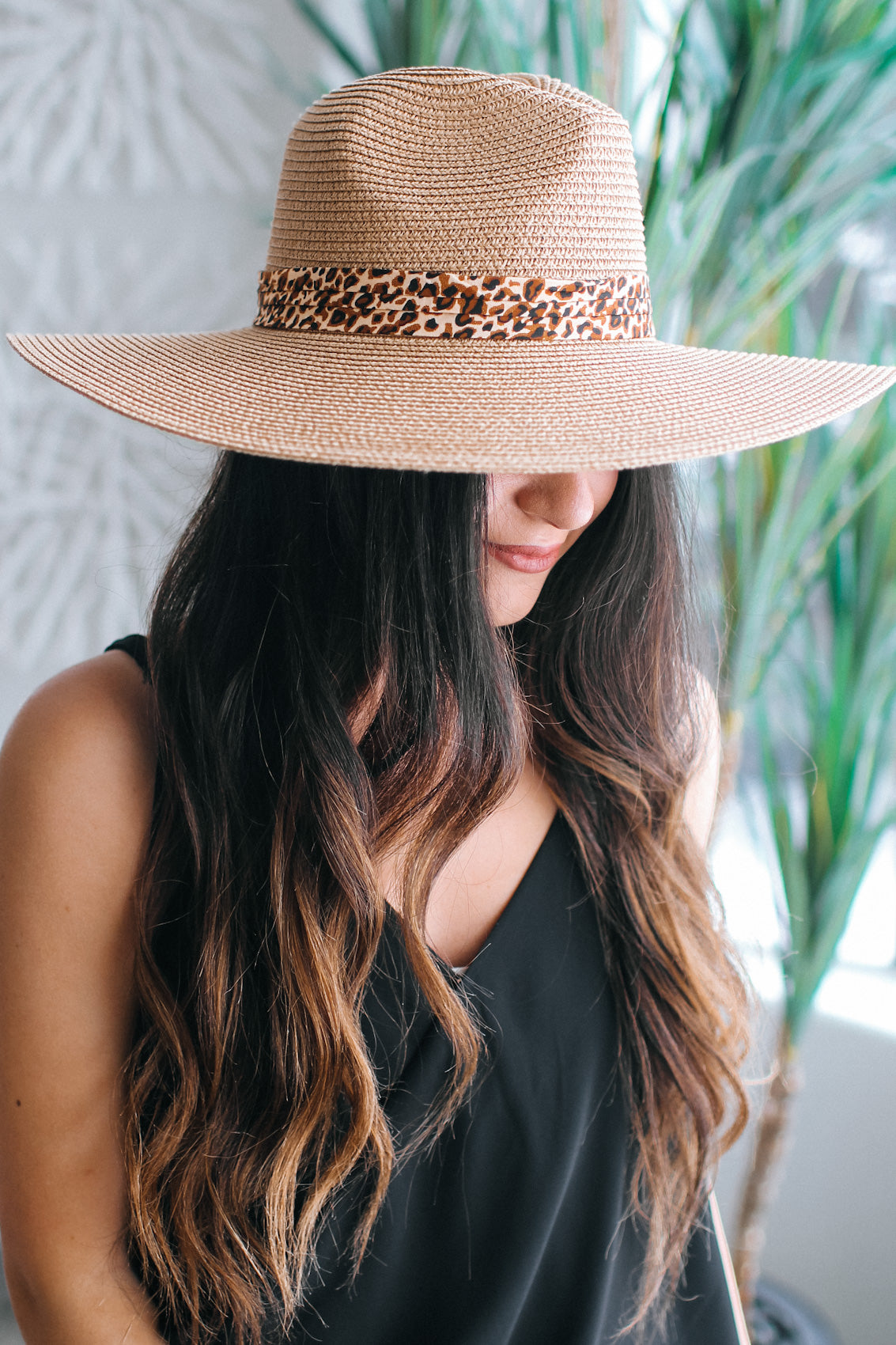 Leopard Band Floppy Hat