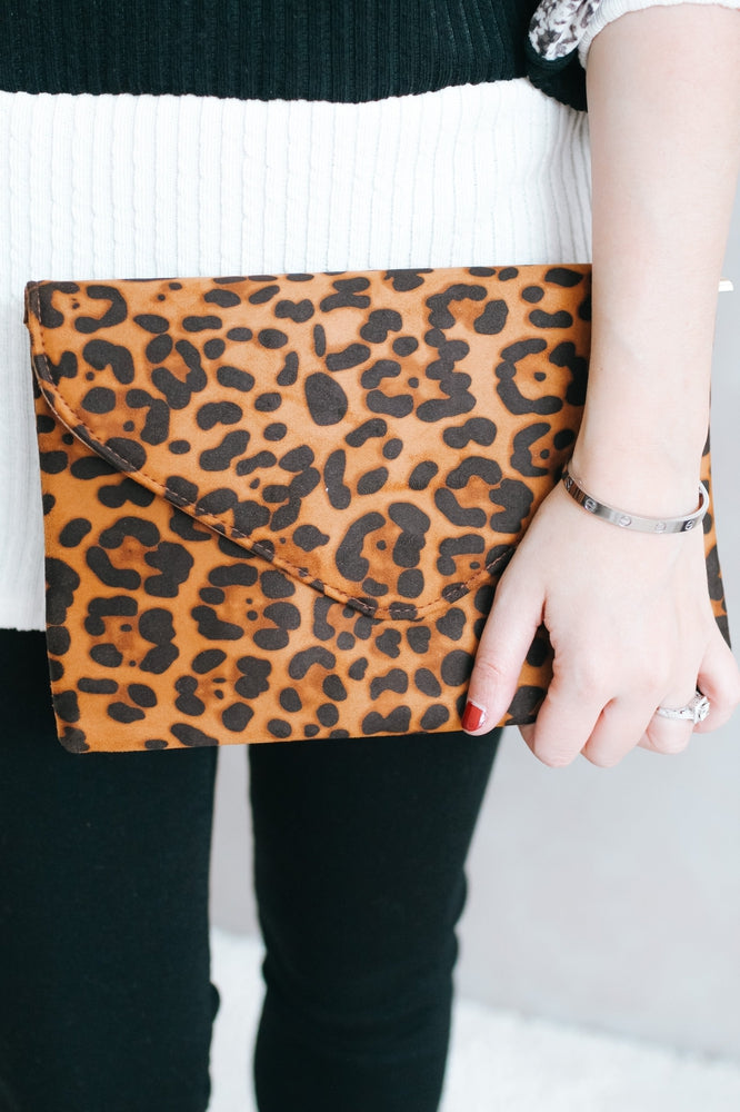All Leopard Oversized Clutch-Glitz & Ears Boutique