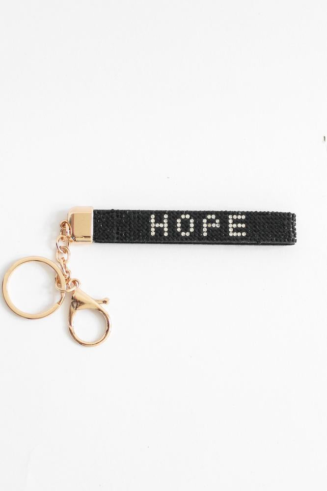 Rhinestone Hope Keychain-Glitz & Ears Boutique