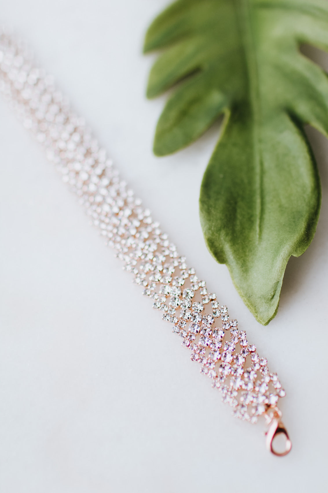 Rhinestone & Almond Bottom Heart Earring-Glitz & Ears Boutique