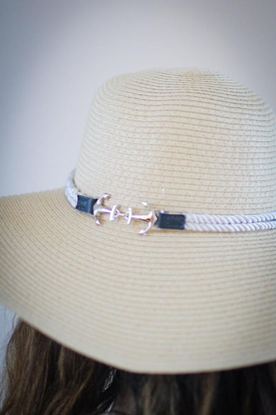 Anchor with Rope Trim Floppy Hat - Glitz & Ears