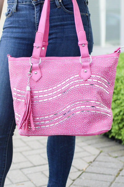 Two Wave Front Tote Purse
