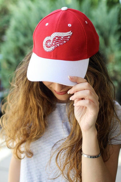 Rhinestone Red Wings Hat-Glitz & Ears Boutique