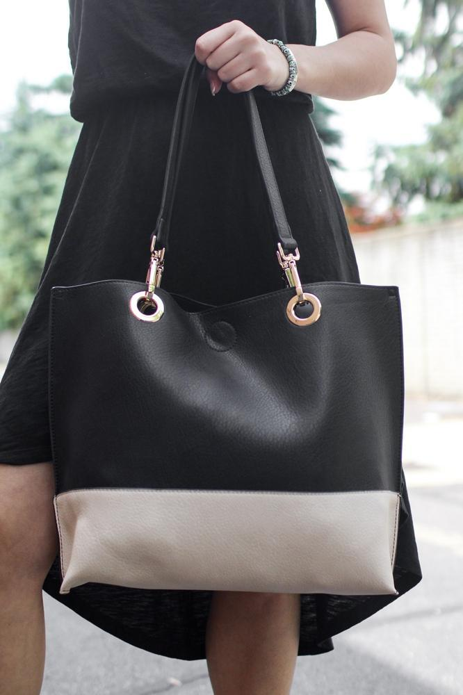 Plain Two-Tone Purse