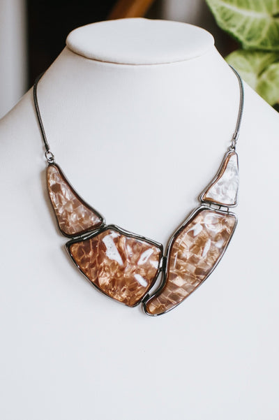 Abstract Shiny Marble Necklace