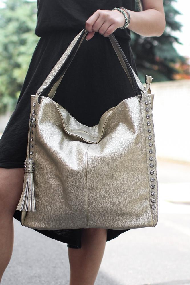 Stone Sides Hobo Bag