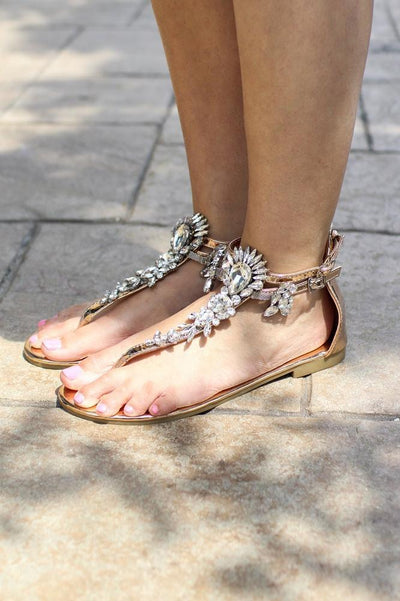 Brooch Top Sandal - Glitz & Ears