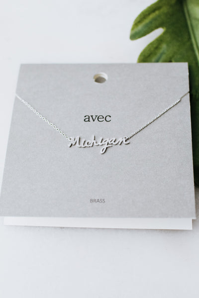 Michigan Pendant Necklace