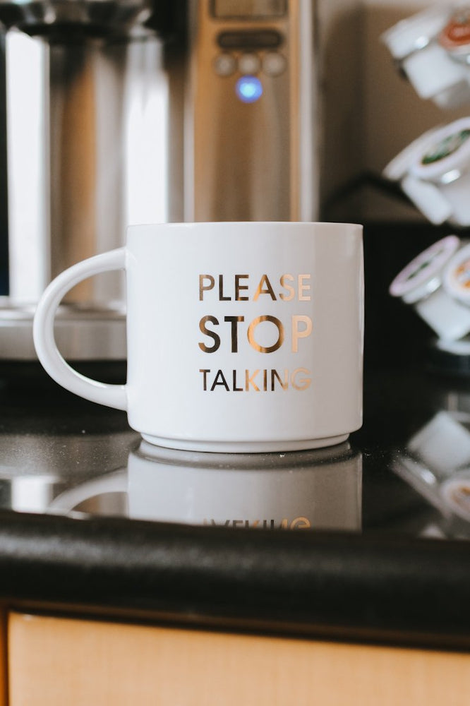 Please Stop Talking Mug-Glitz & Ears Boutique