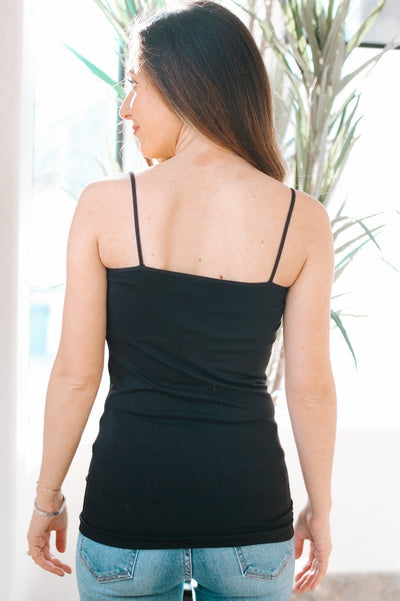 Black Basic Cami-Glitz & Ears Boutique