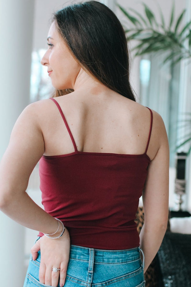 Merlot Basic Cami-Glitz & Ears Boutique