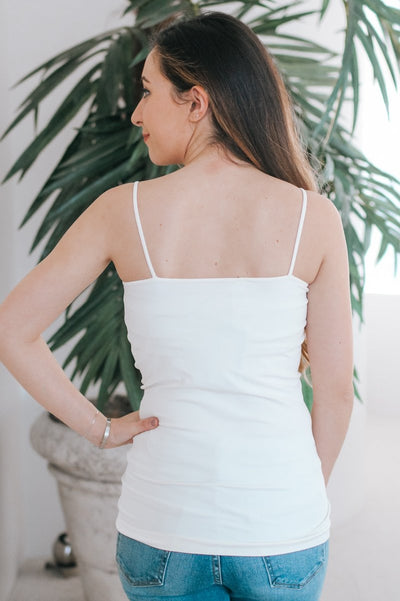Ivory Basic Cami-Glitz & Ears Boutique