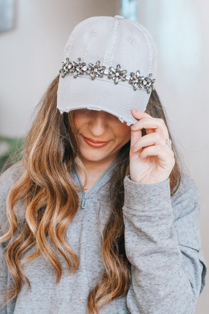 Almond Flower Across Baseball Hat-Glitz & Ears Boutique