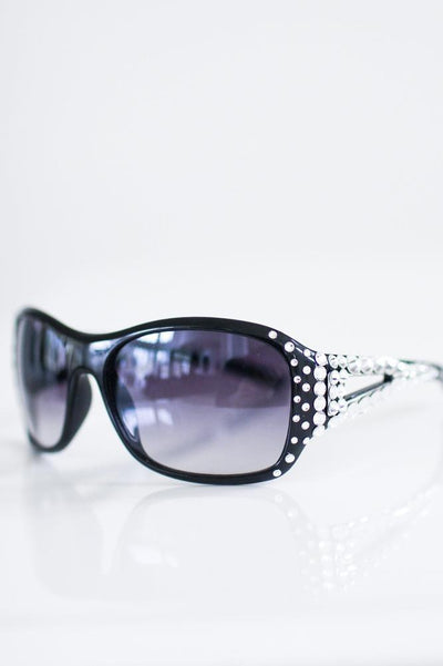 Circle Stone Open Side Sunglasses - Glitz & Ears