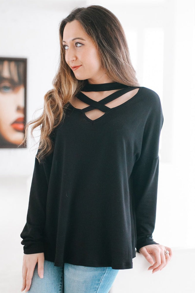 Open Shoulder Plain Top