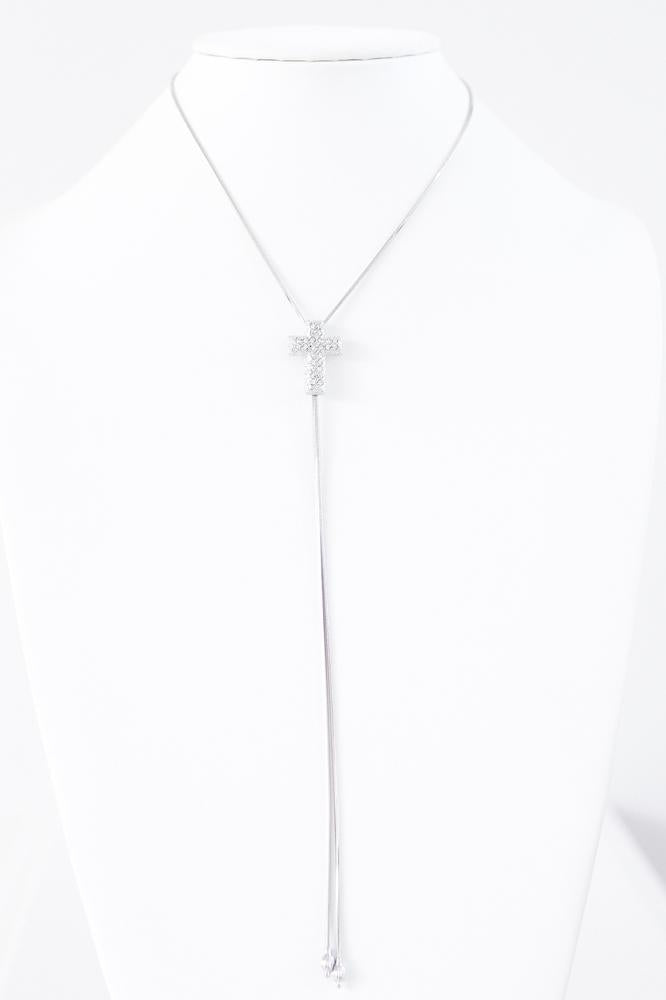 Long Adjustable Cross Necklace-Glitz & Ears Boutique