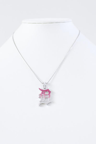 Rhinestone Detroit 'D' Necklace-Glitz & Ears Boutique