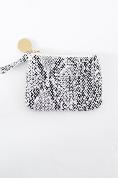 Snake Print Zipper Coin Purse-Glitz & Ears Boutique
