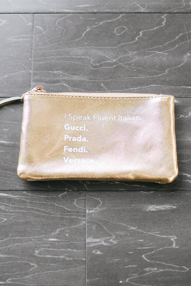 Fluent Italian Makeup Bag