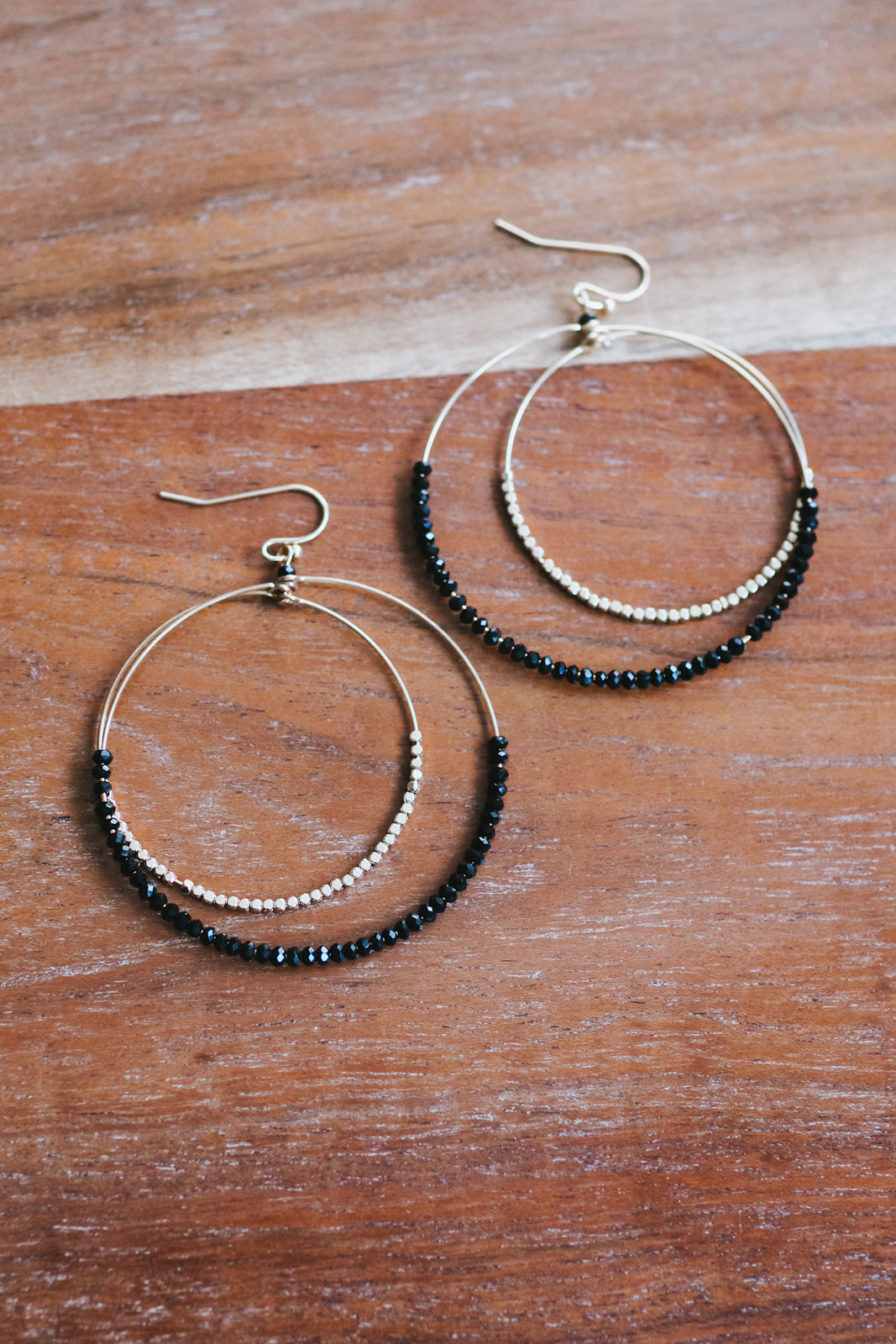 Thin Circle Bead Bottom Earring
