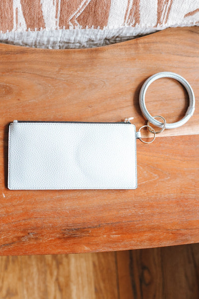 Plain Leather Ring Clutch