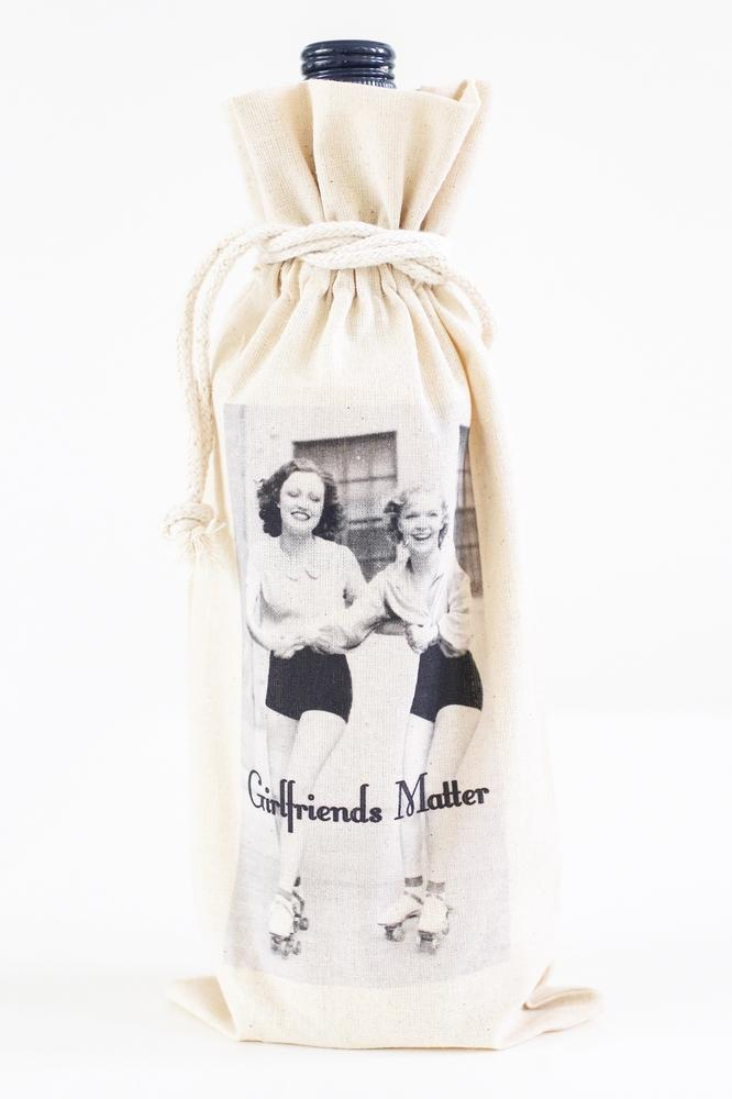 Girlfriends Matter Wine Bag
