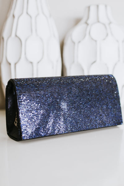Rhinestone Flap Clutch
