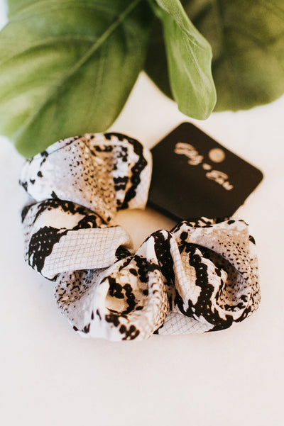 Snakeskin Large Scrunchie