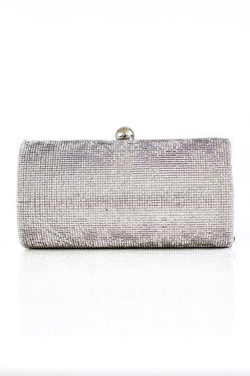 Barrel Shape Rhinestone Clutch - Glitz & Ears