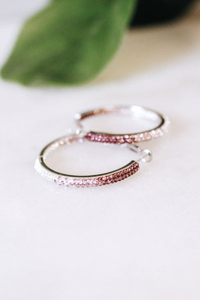 Medium Fade Rhinestone Hoop