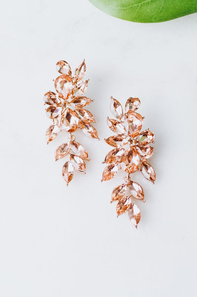 Almond & Teardrop Cluster Formal Earring